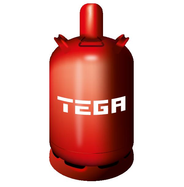 11kg Flüssiggas in Flasche von TEGA
